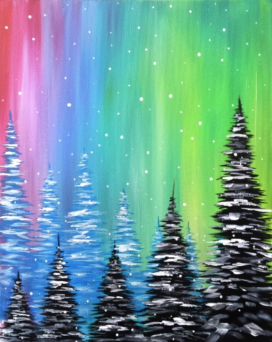A Frosted Pines paint nite project by Yaymaker