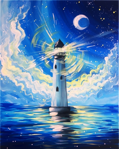 A Hope is like a lighthouse paint nite project by Yaymaker