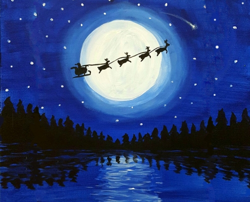A Christmas Moonlight II paint nite project by Yaymaker
