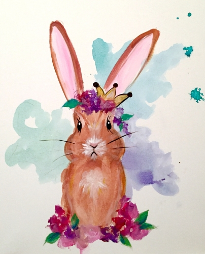 A THE FAVOURITE  Queen Edwina  Bunny Royalty I paint nite project by Yaymaker