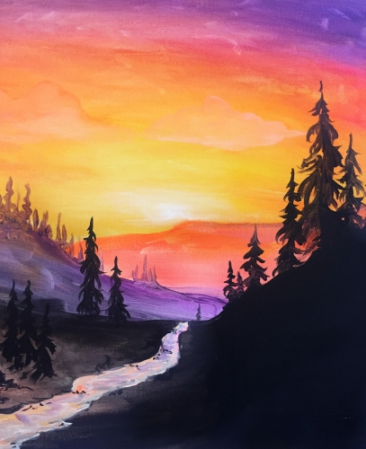 A Sunrise River paint nite project by Yaymaker