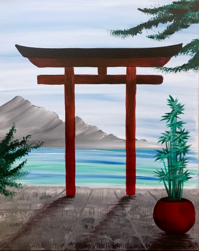 A Gateway to Serenity paint nite project by Yaymaker