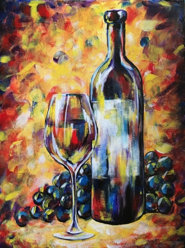 A Red Wine Still Life paint nite project by Yaymaker