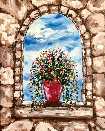 A Bloom Where You Are Potted paint nite project by Yaymaker