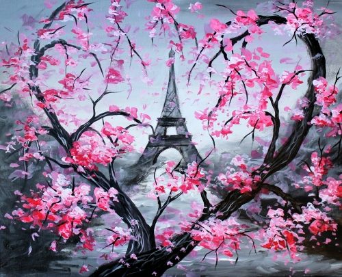 A Heart Of Eiffel paint nite project by Yaymaker