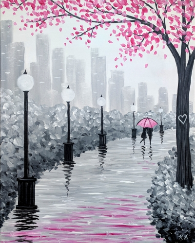 A Lovers Stroll paint nite project by Yaymaker