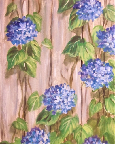 A Barnyard Blues paint nite project by Yaymaker