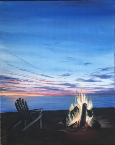 A Hot Summer Nights paint nite project by Yaymaker