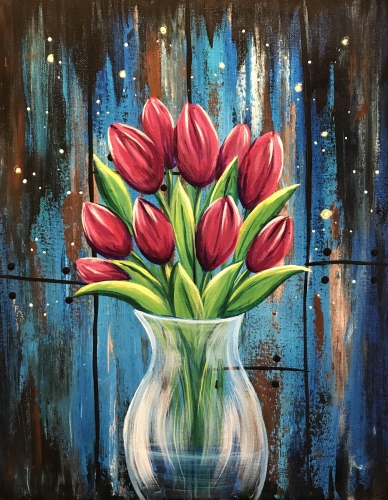 A Magic Tulips paint nite project by Yaymaker