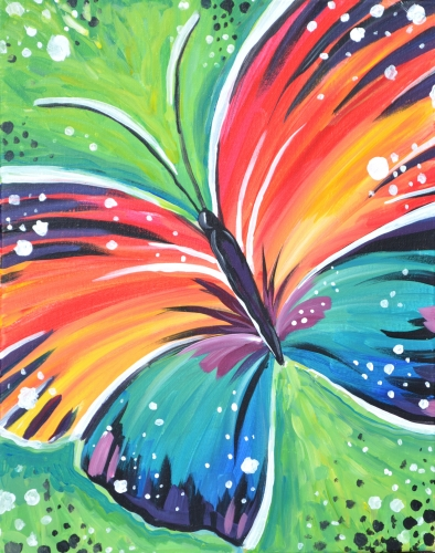 A Wings of a Butterfly paint nite project by Yaymaker