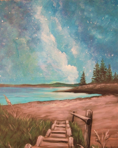 A Steps into Stardust paint nite project by Yaymaker