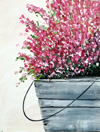 A Blooming Bucket paint nite project by Yaymaker
