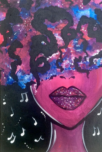 A Can You Feel Me paint nite project by Yaymaker