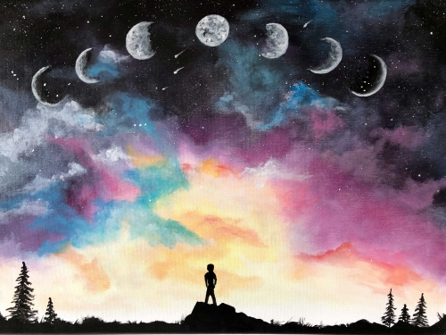 A Just like the moon we go through phases paint nite project by Yaymaker