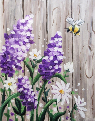 A Beeutiful Barnyard Lilacs paint nite project by Yaymaker