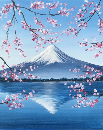 A Mt Fuji Reflection paint nite project by Yaymaker