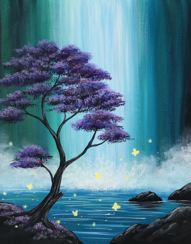 A Butterfly Falls paint nite project by Yaymaker