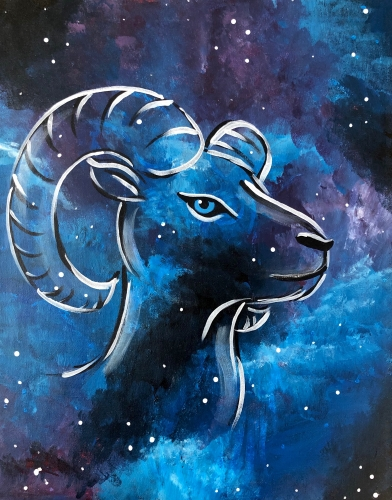 A Aries  Cosmic Series paint nite project by Yaymaker