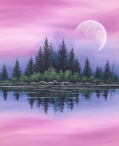 A Peaceful Mornings paint nite project by Yaymaker