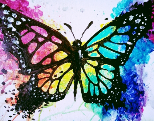 A Born This Way Butterfly paint nite project by Yaymaker