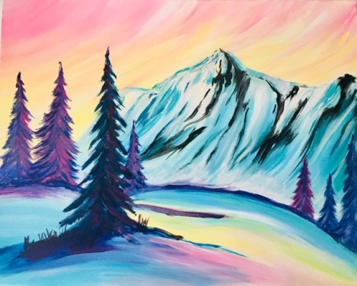A Teal Mountain paint nite project by Yaymaker