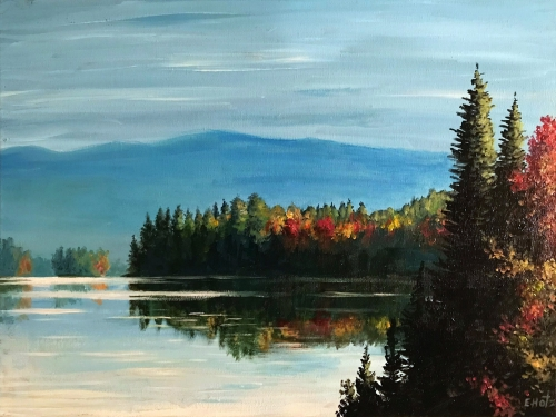 A Autumn On The Lake paint nite project by Yaymaker