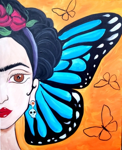 A Frida Takes Flight paint nite project by Yaymaker
