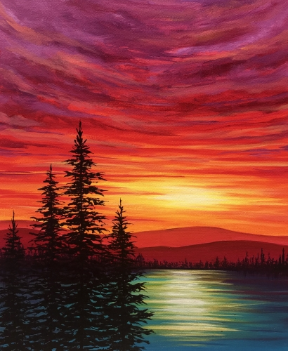 A Blazing Summer paint nite project by Yaymaker