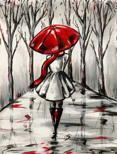 A Red Umbrella II paint nite project by Yaymaker