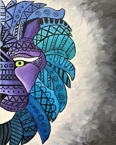 A Tribal Lion paint nite project by Yaymaker