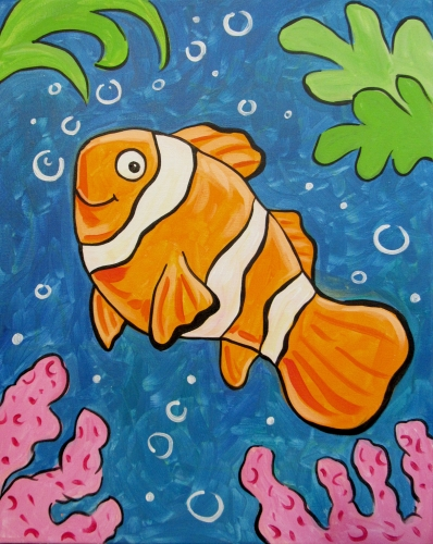 A The Happy Clown Fish paint nite project by Yaymaker
