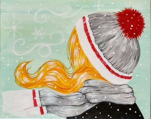 A Winter Weather Wonderland paint nite project by Yaymaker