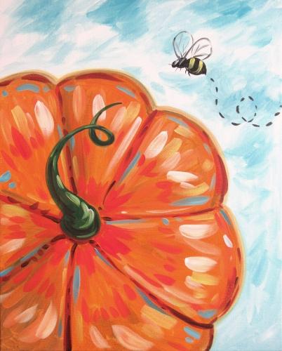 A Beeutiful Pumpkin paint nite project by Yaymaker