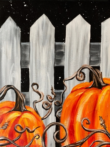 A Midnight Pumpkin Patch IV paint nite project by Yaymaker