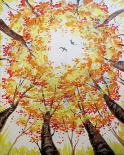 A Fall Forest Flight paint nite project by Yaymaker