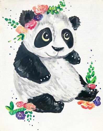 A Panda Baby paint nite project by Yaymaker