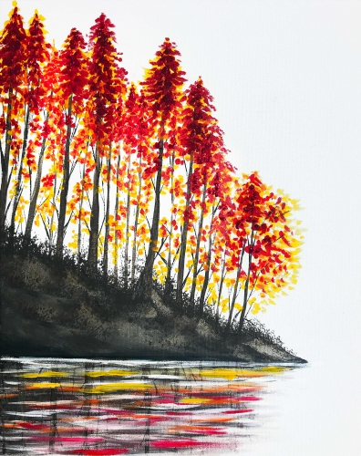 A Reflections Of Autumn paint nite project by Yaymaker