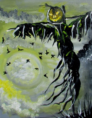 A Moonlit Spook paint nite project by Yaymaker