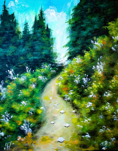 A Colorful Path paint nite project by Yaymaker
