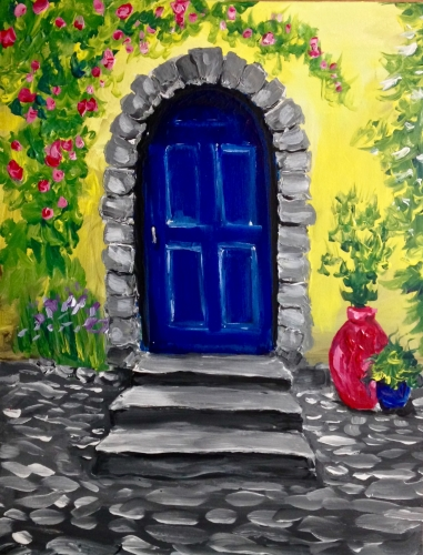 A Italian Villa paint nite project by Yaymaker