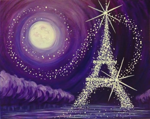 A Jewel of Paris paint nite project by Yaymaker