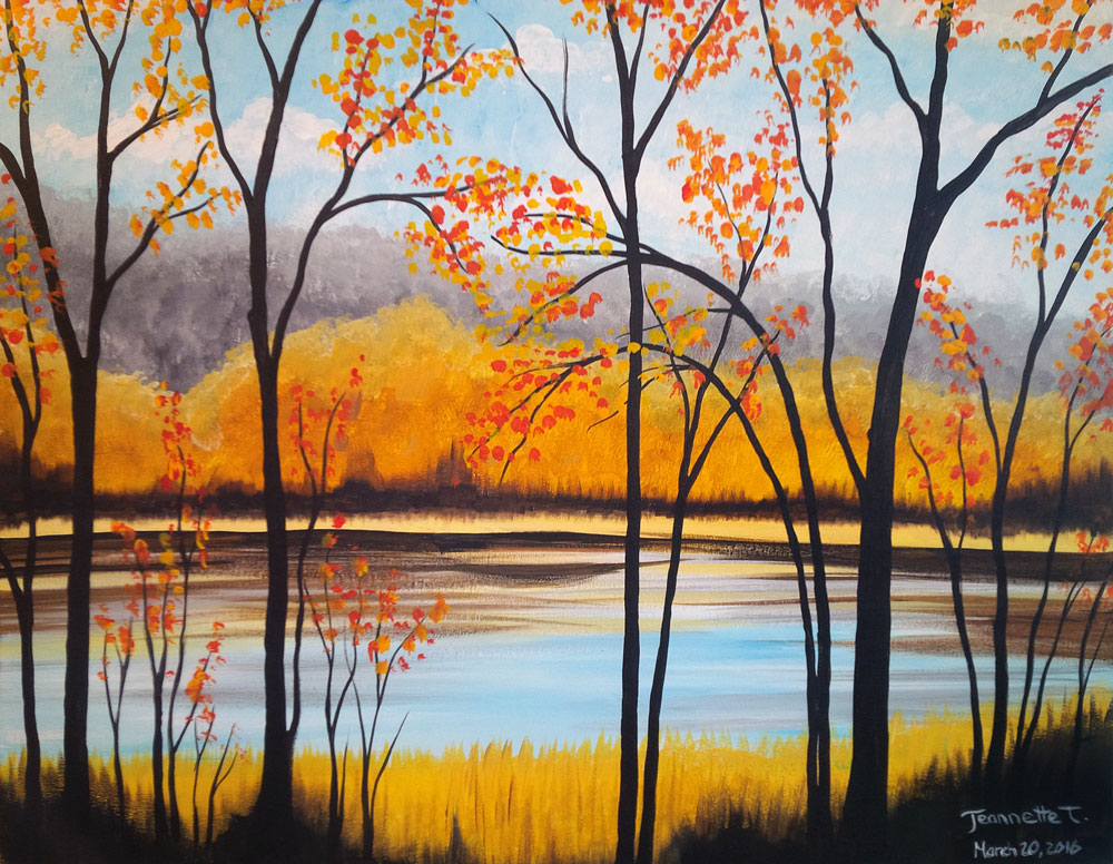 A Lakefront Serenity paint nite project by Yaymaker
