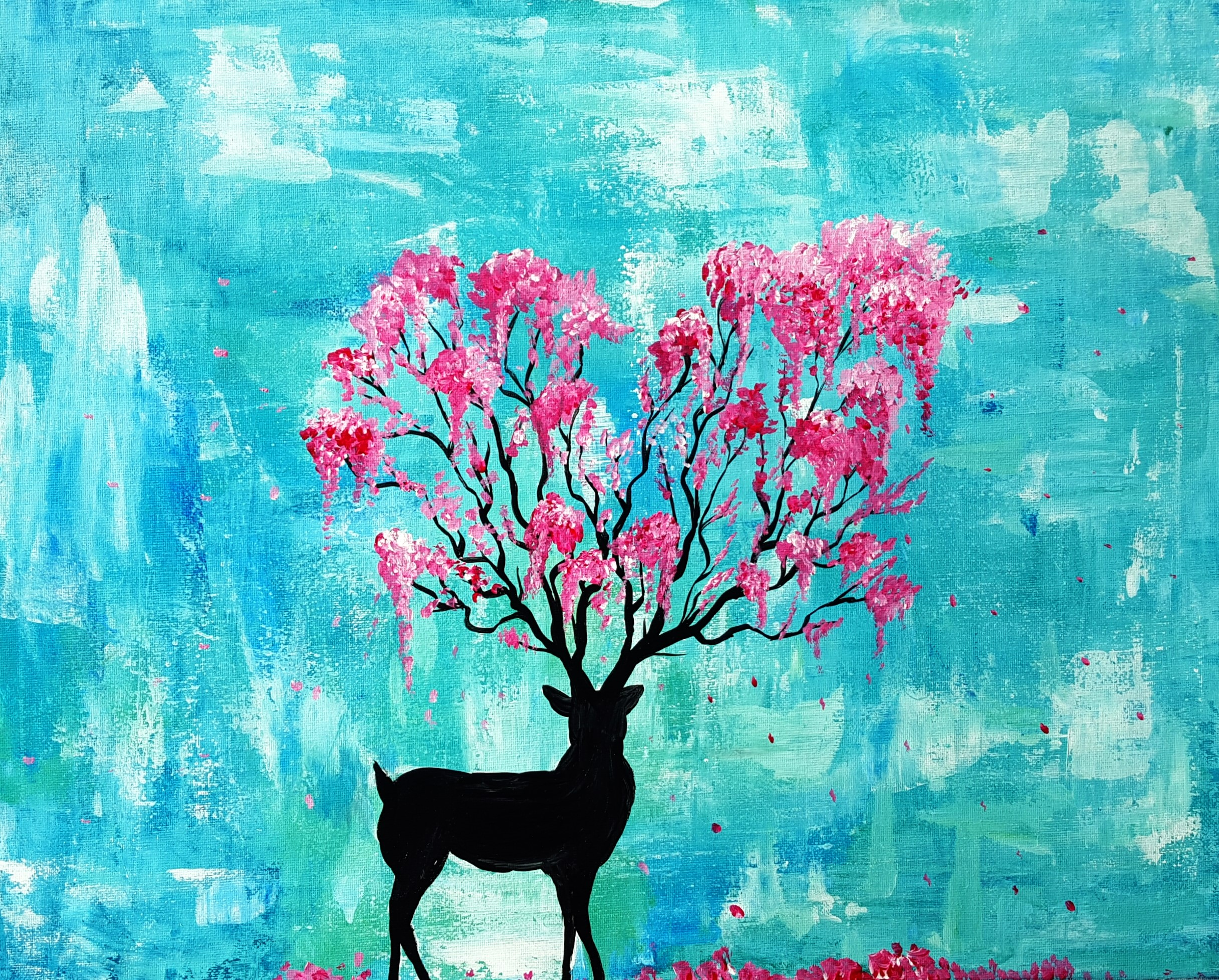 A Spring Spirit paint nite project by Yaymaker