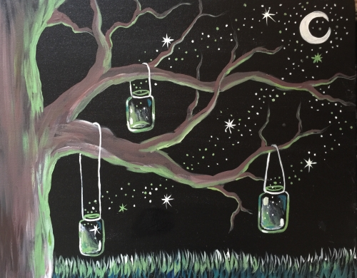 A Mystical Lights paint nite project by Yaymaker