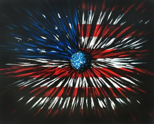 A Patriotic Andromeda Painting paint nite project by Yaymaker