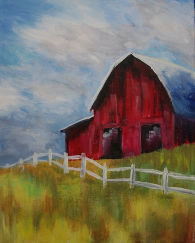 A Pure American Old Barn paint nite project by Yaymaker