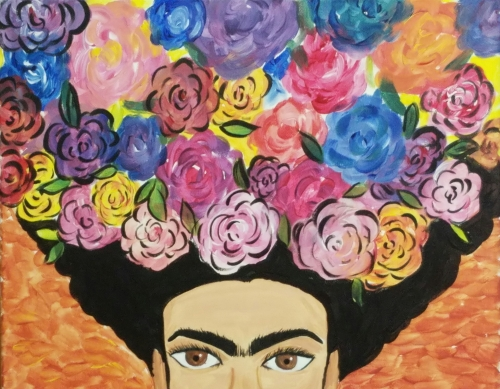 A Flores de Frida paint nite project by Yaymaker