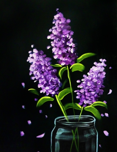 A Lilac Bouquet paint nite project by Yaymaker