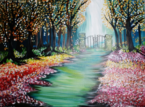 A Gate to Heaven paint nite project by Yaymaker