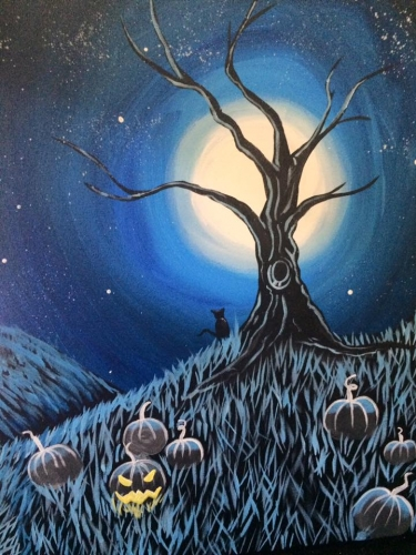 A Midnight Pumpkin Patch paint nite project by Yaymaker